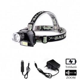 Ledes Beépített Akkus Fejlámpa Zoom 6919B XPE+COB LED Csepp és Porálló