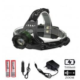 Ledes Cserélhető Akkus Zöld Fejlámpa Zoom Extra Erős T6 LED Csepp és Porálló