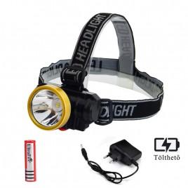 Ledes Cserélhető Akkus Fejlámpa Q5 LED Csepp és Porálló