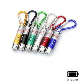 Ledes Elemes Kulcstartós Lámpa Lézerrel és UV Fénnyel