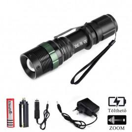 Ledes Cserélhető Akkus Rúdlámpa Zoom T6 LED Csepp és Porálló