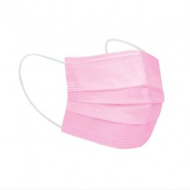 Eldobható, 3 rétegű orvosi maszk rózsaszín